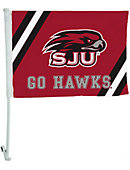 Saint Joseph's University Hawks 11 x 15 Mesh Car Flag
