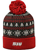 Saint Joseph's University Hawks Christmas Cuffed Pom Hat