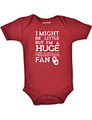 University of Oklahoma I Might Be Little But I'm a Huge Fan' Infant Bodysuit