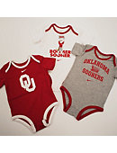 University of Oklahoma Infant Creeper Set of 3