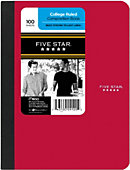 COMPOSITION BOOK FIVE STAR CR 100CT