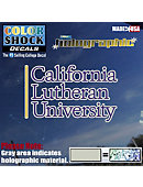 California Lutheran University Hologram Decal