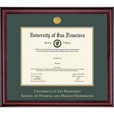 Framing Success University Of San Francisco School Nursing And Health Professions 7 X 9 Diploma Frame