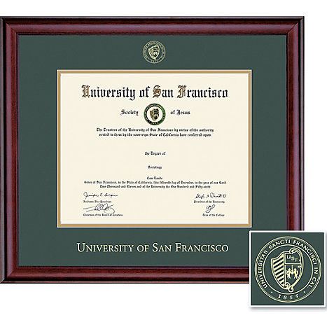 Product: University of San Francisco 8'' x 10'' Classic Diploma Frame