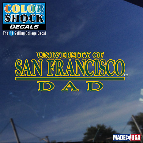 Product: University of San Francisco Dad Decal