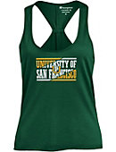 University of San Francisco Dons Women's Athletic Fit Swing Tank Top
