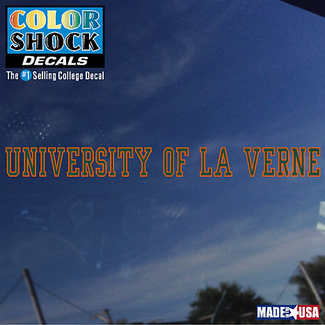 Product: University of La Verne Strip Decal