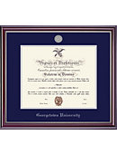 Georgetown University 20'' x 16'' Jefferson Diploma Frame with Lithograph