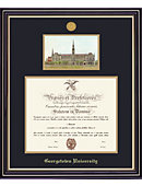 Georgetown University 20'' x 16'' Prestige Diploma Frame with Lithograph