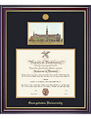 Georgetown University 20'' x 16'' Windsor Diploma Frame with Lithograph