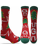 Georgetown University Christmas Tree Crew Socks