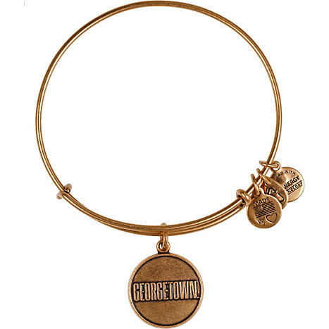 Product: Georgetown University Gold Expandable Wire Bracelet