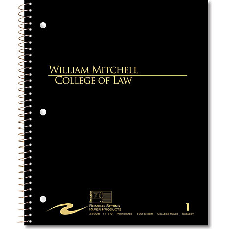 Product: William Mitchell College of Law 100 Sheet Notebook