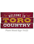 California State University at Dominguez Hills Toros 22''x11'' Wood Sign