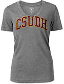 California State University at Dominguez Hills Women's V-Neck Slim Fit Short Sleeve T-Shirt