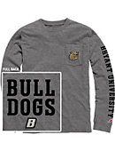 Bryant University Vintage Washed Long Sleeve Pocket T-Shirt