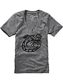 Bryant University Bulldogs Women's V-Neck T-Shirt