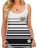 Bryant University Bulldogs Women's Striped Pocket Tank Top