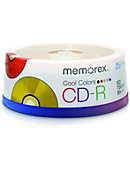 CDR MEMOREX COLORS 25PK SPIN