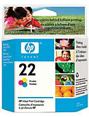 HEWLETT PACKARD INK CART HP 22 TRI-COLOR C9352AN