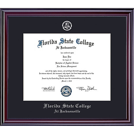 framing success florida state college at jacksonville 85 x 11 elite diploma frame