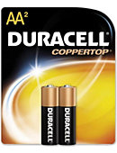 BATTERY 2PACK AA DURACELL