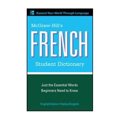 ISBN: 9780071591966, Title: FRENCH STUDENT DICTIONARY