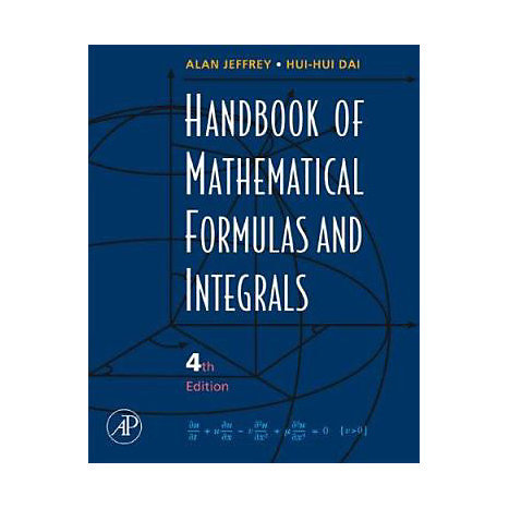ISBN: 9780123742889, Title: Handbook of Mathematical Formulas and Integrals [With CDROM]