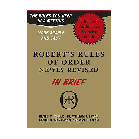 ISBN: 9780306813542, Title: ROBERTS RULES OF ORDER IN BRIE