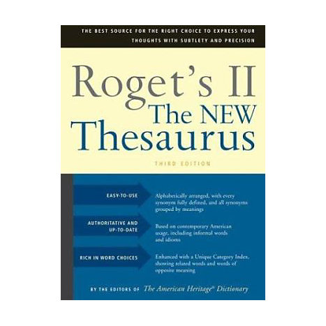 ISBN: 9780618254149, Title: ROGET'S II THESAURUS