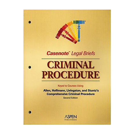 ISBN: 9780735552203, Title: CRIM PROCED CLB 2E ALLEN