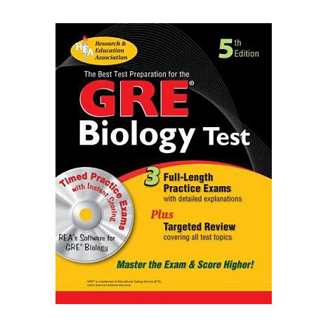 ISBN: 9780738603612, Title: GRE BIOLOGY W/CD (REA)
