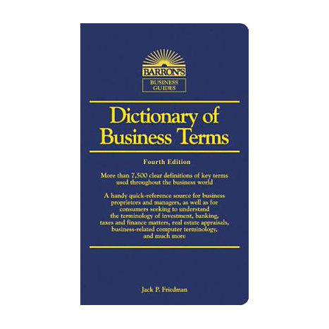 ISBN: 9780764135347, Title: DICTIONARY OF BUSINESS TERMS