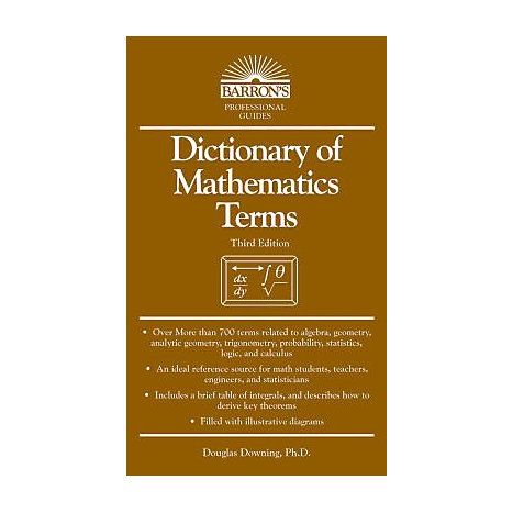 ISBN: 9780764141393, Title: DICT OF MATHEMATICS TERMS 3E