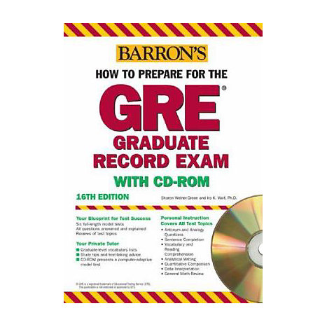 ISBN: 9780764178788, Title: HT PREP FOR GRE W/CD 16E