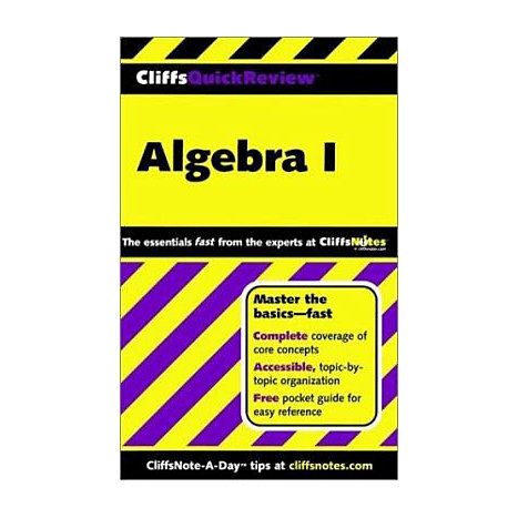 ISBN: 9780764563706, Title: ALGEBRA QUICK REVIEW