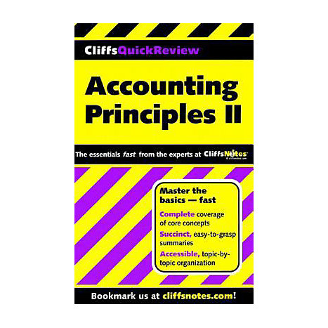 ISBN: 9780764585654, Title: ACCOUNTING PRINCIPLES 2 QUICK