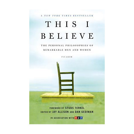 ISBN: 9780805086584, Title: THIS I BELIEVE