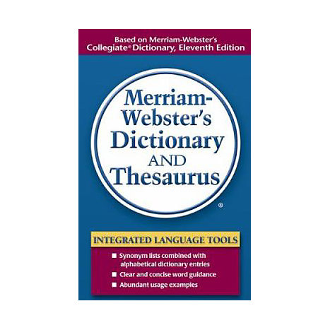ISBN: 9780877798514, Title: MW DICTIONARY AND THESAURUS