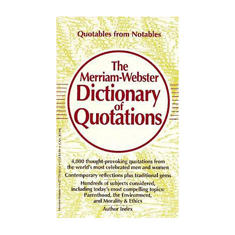 ISBN: 9780877799047, Title: MW DICTIONARY OF QUOTATIONS