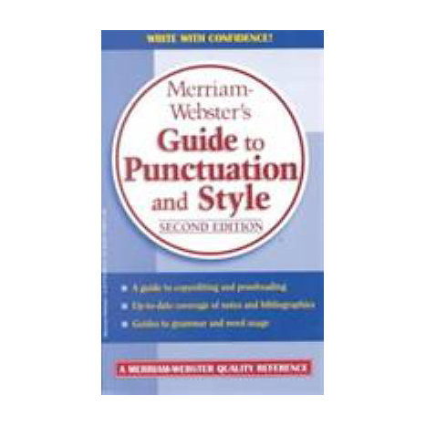 ISBN: 9780877799214, Title: MW GUIDE TO PUNCTUATION