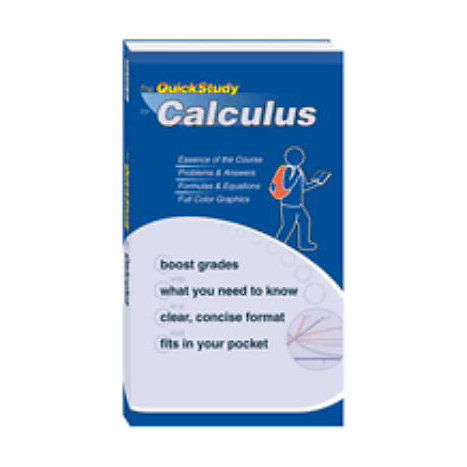 ISBN: 9781423202684, Title: CALCULUS QUICK STUDY