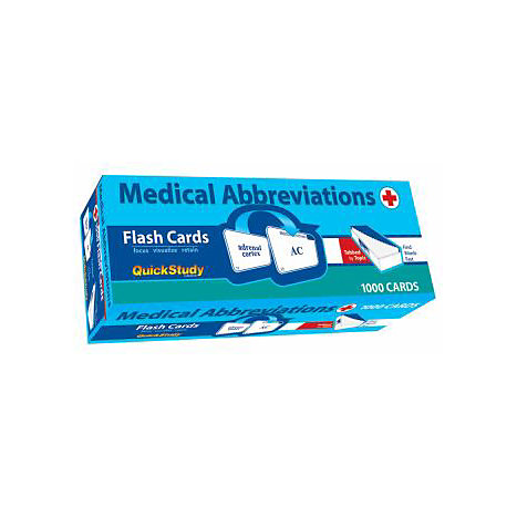 ISBN: 9781423203643, Title: MED ABBREVIATIONS FLASH CARDS