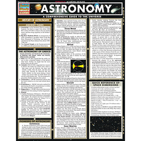 ASTRONOMY : 9781572224858 : BARCHARTS : Erie CC - North ...
