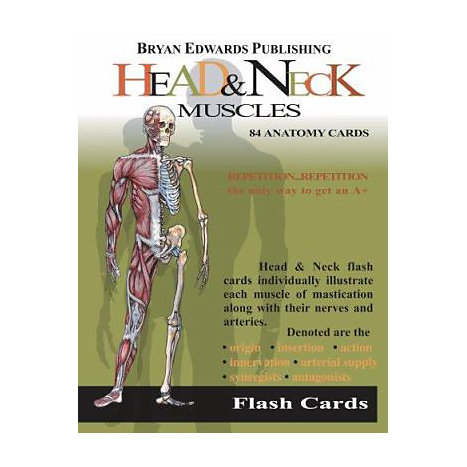 ISBN: 9781878576118, Title: HEAD & NECK MUSCLES FLASH CARD