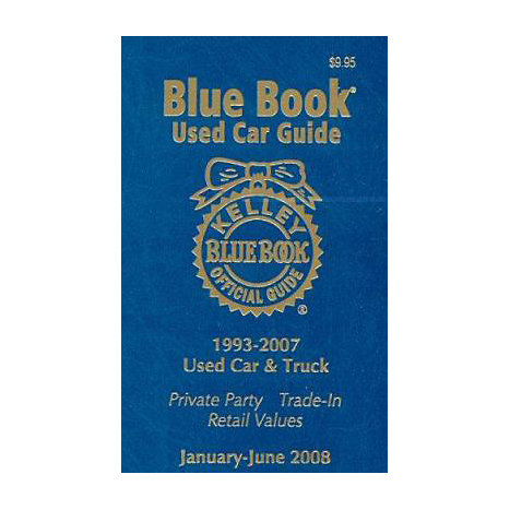 ISBN: 9781883392697, Title: BLUE BK USED CAR GD JAN 08