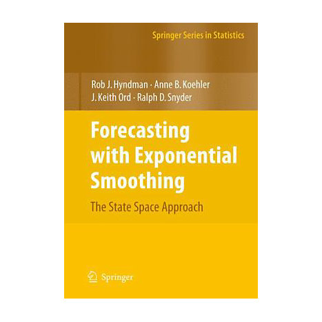 ISBN: 9783540719168, Title: Forecasting with Exponential Smoothing: The State Space Approach