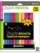 HIGHLITER 10PK ZAZZLE BRITES