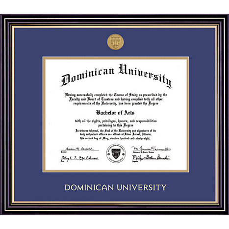 Product: Dominican University Prestige Diploma Frame w/Brass Medallion
