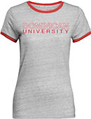 Dominican University Women's Athletic Fit Ringer Short Sleeve T-Shirt
